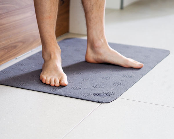 Conni's non slip floor mat is perfect for tiled surfaces