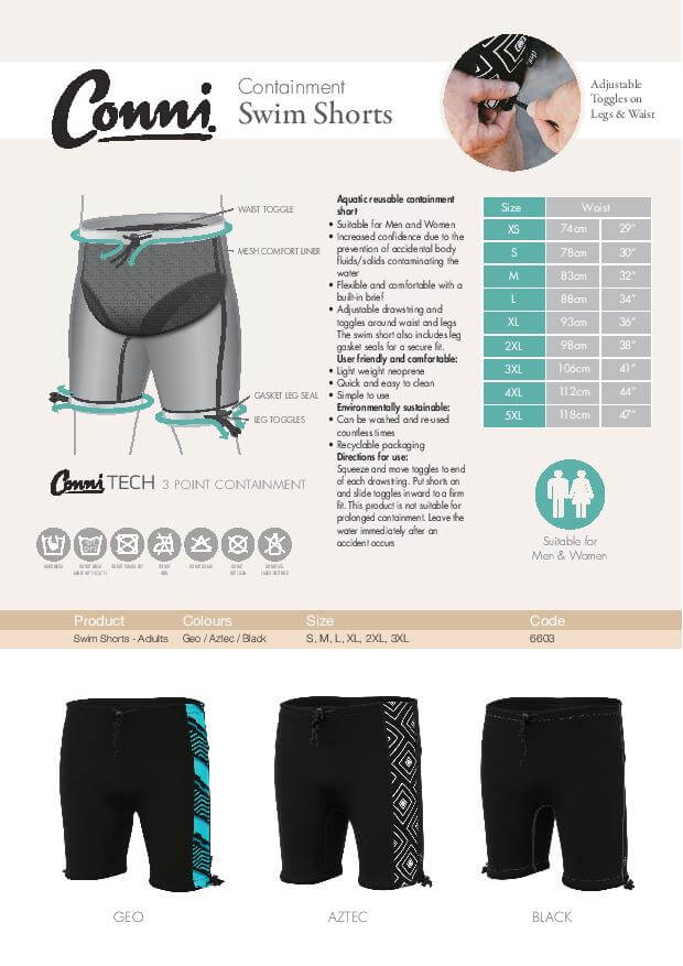 Conni Swim Shorts specifications download
