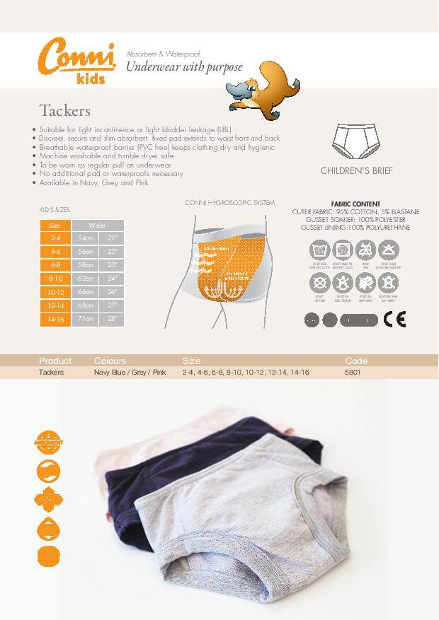Conni Tackers Underwear specifications download