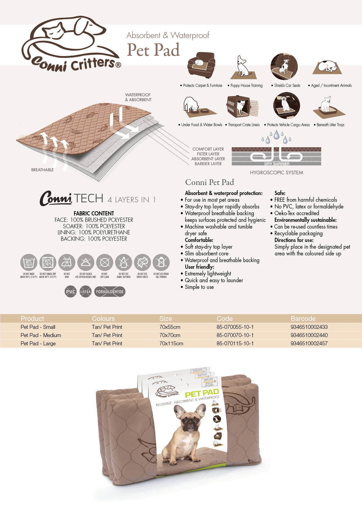 Conni Pet Pad specifications download